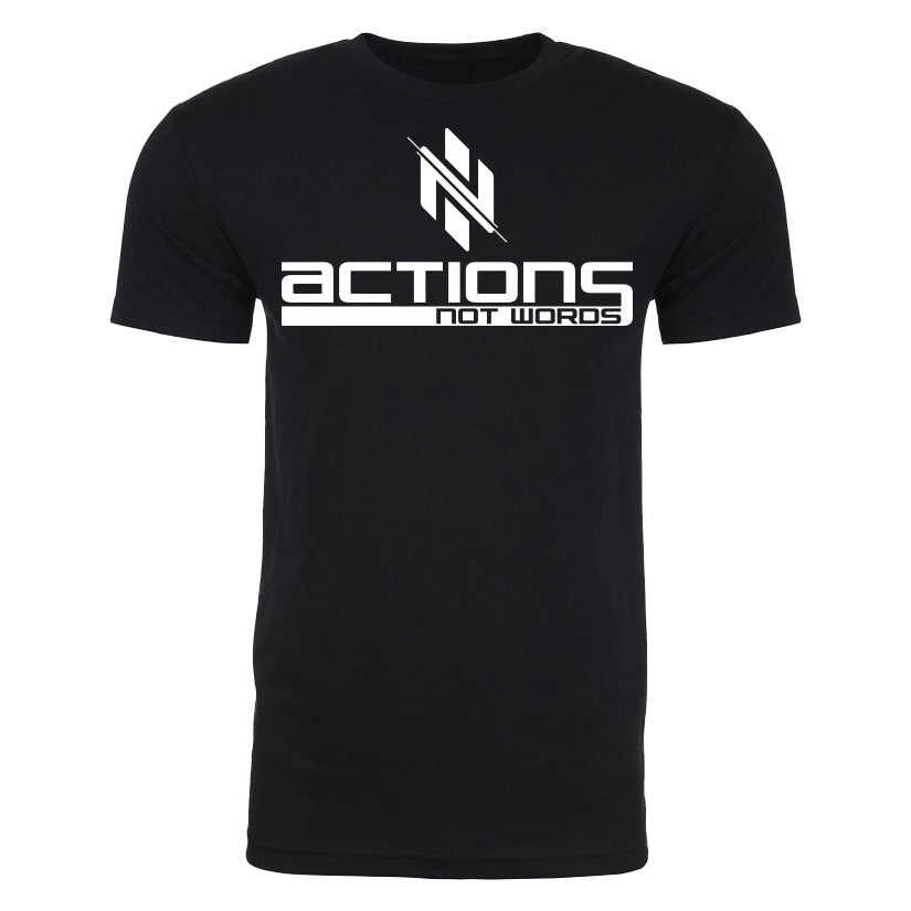 Black Actions Not Words T-Shirt - Ignite Nutrition