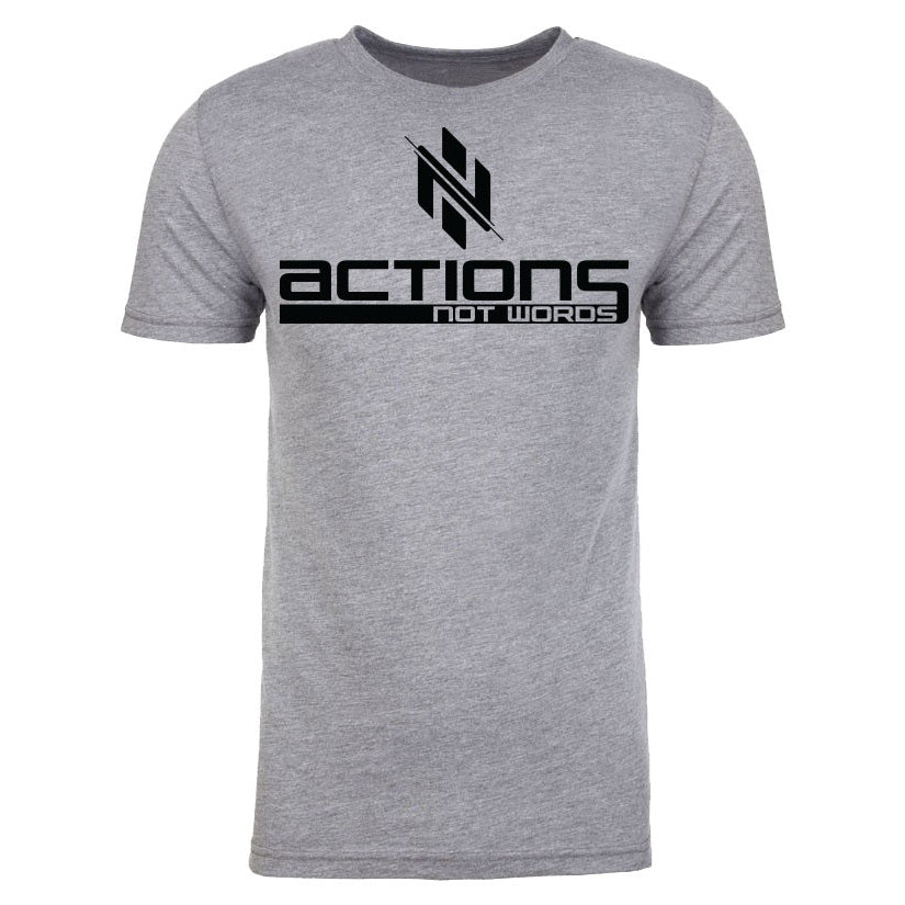 Heather Grey Actions Not Words T-Shirt - Ignite Nutrition