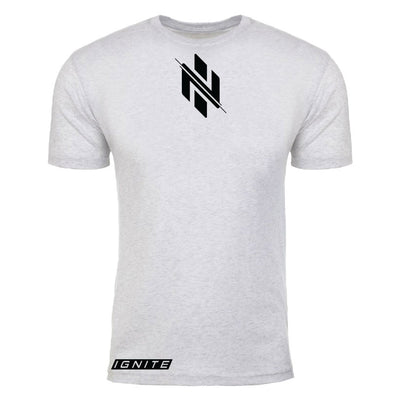 Heather White Logo T-Shirt (intl) - Ignite Nutrition