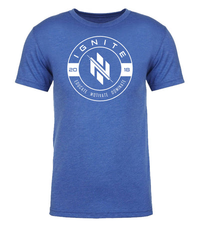 Royal Blue Educate Motivate Dominate T-Shirt (intl) - Ignite Nutrition