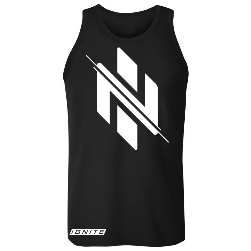 Black Logo Tank (intl) - Ignite Nutrition