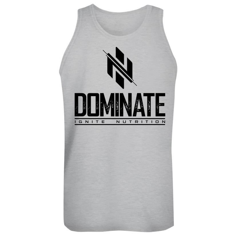 Gray Dominate Tank (intl) - Ignite Nutrition