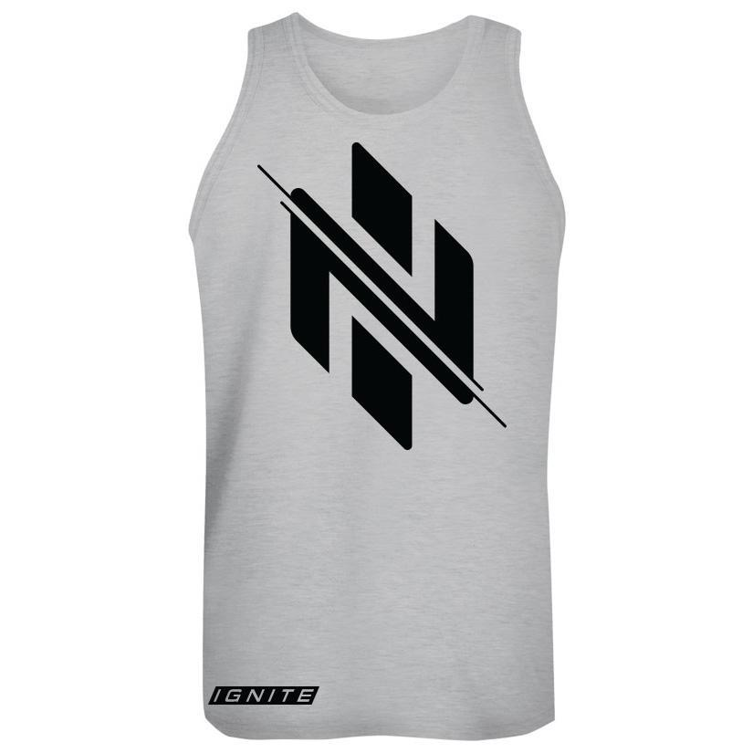 Heather Grey Logo Tank (intl) - Ignite Nutrition