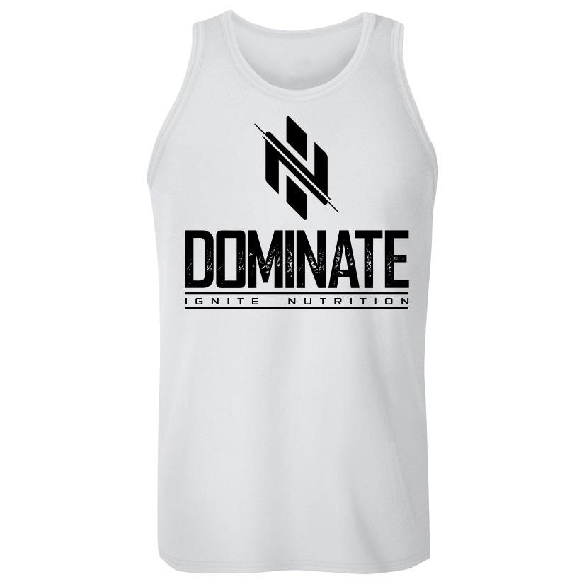 White Dominate Tank (intl) - Ignite Nutrition