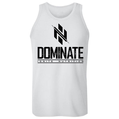White Dominate Tank - Ignite Nutrition