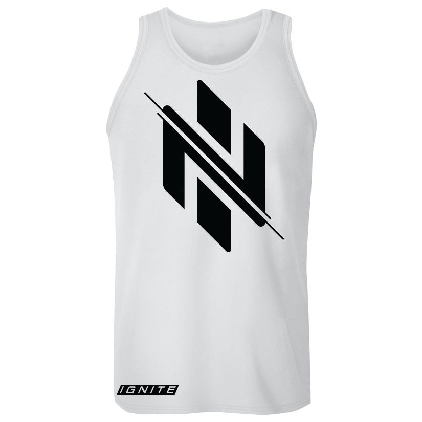 White Logo Tank - Ignite Nutrition