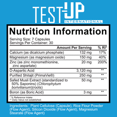 Test-Up Testosterone Booster (intl) - Ignite Nutrition