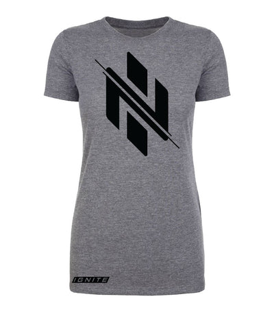 Womens Charcoal Logo T-Shirt - Ignite Nutrition