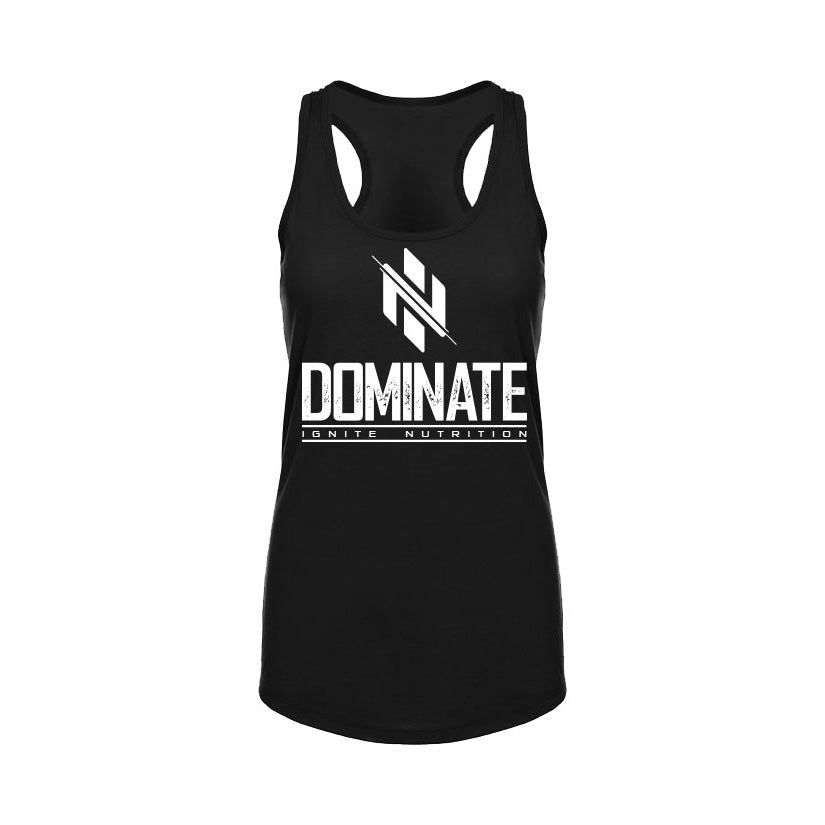 Womens Black Dominate Tank (intl) - Ignite Nutrition