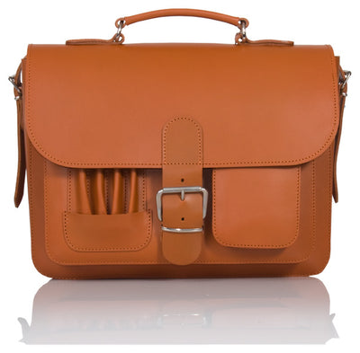 MAYFAIR VEGETABLE TANNED TAN LEATHER SMALL SATCHEL / BACKPACK