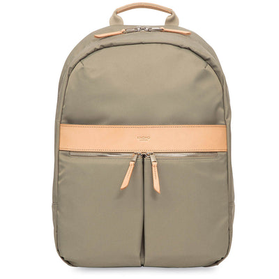 "KNOMO BEAUCHAMP OLIVE 14"" LAPTOP BACKPACK"