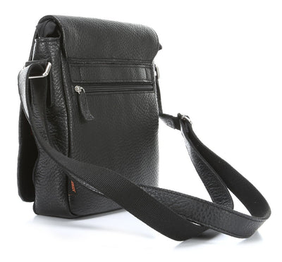 JOST COPENHAGEN 2055 BLACK LEATHER SMALL MESSENGER BAG