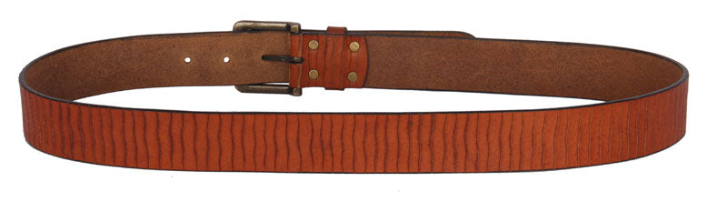 CASUAL MEN'S BELT MADE FROM TAN REAL LEATHER. GREAT FOR A TRENDY LOOK