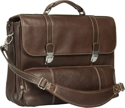 COMBO XMAS OFFER OF HIDEONLINE DARK BROWN LEATHER TRAVEL HOLDALL / DUFFLE PLUS HIDEONLINE BROWN LAPTOP BRIEFCASE