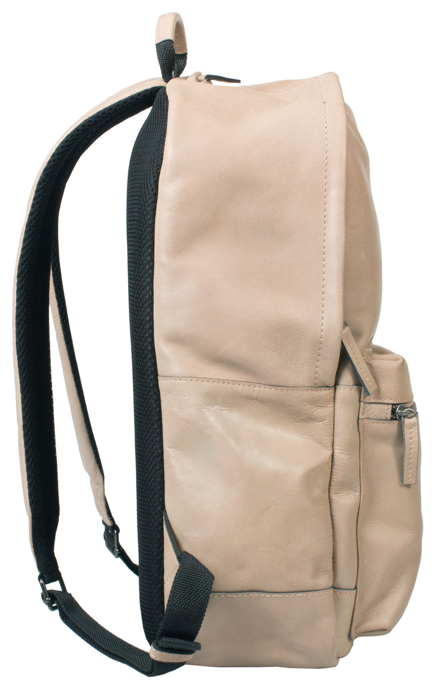 HIDEONLINE BONE/ BEIGE REAL LEATHER LAPTOP BACKPACK