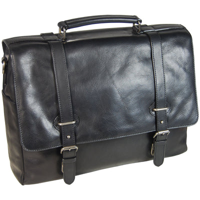 LEONHARD HEYDEN ROMA 5372 BLACK LEATHER BRIEFCASE