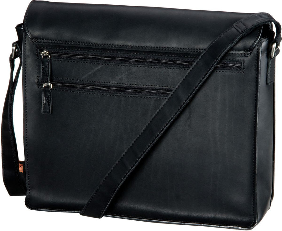 JOST FUTURA 8645 BLACK LEATHER LARGE SHOULDER / MESSENGER BAG