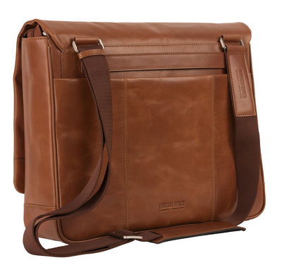LEONHARD HEYDEN CHICAGO 6805 COGNAC MESSENGER BAG LARGE