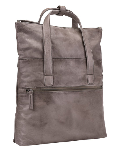 STOCKHOLM SHOULDER BAG/TOTE BAG IN LIGHT GREY