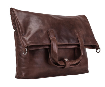 STOCKHOLM LARGE SHOULDER BAG IN BROWN
