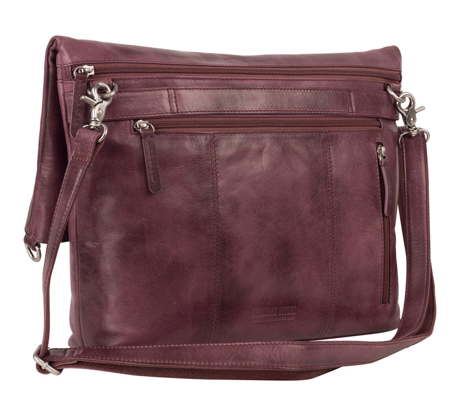 STOCKHOLM LARGE SHOULDER BAG IN BLACKBERRY