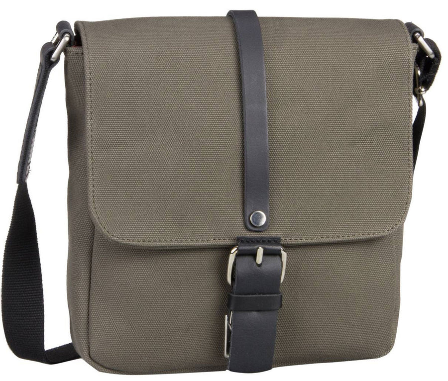 JOST LUND 2366 SMALL MESSENGER / SHOULDER BAG IN BLACK / OLIVE