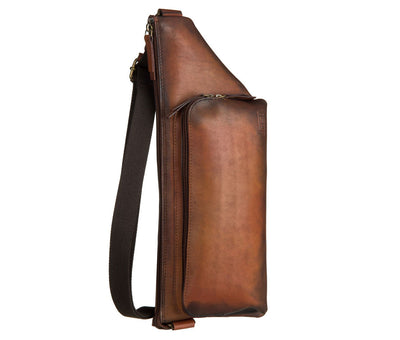 JOST RANDERS 2487 COGNAC LEATHER SMALL CROSSOVER BAG