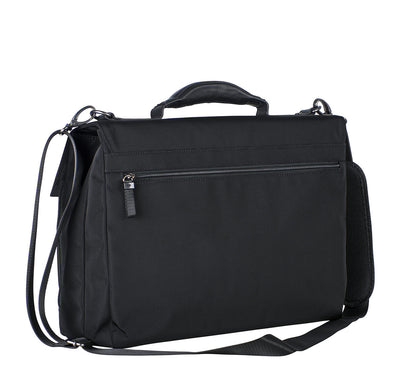 LEONHARD HEYDEN SOHO 7731 BLACK BRIEFCASE 2 COMPARTMENTS