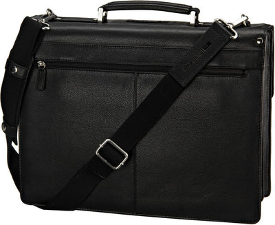 LEONHARD HEYDEN BERLIN 7343 BLACK LEATHER BRIEFCASE