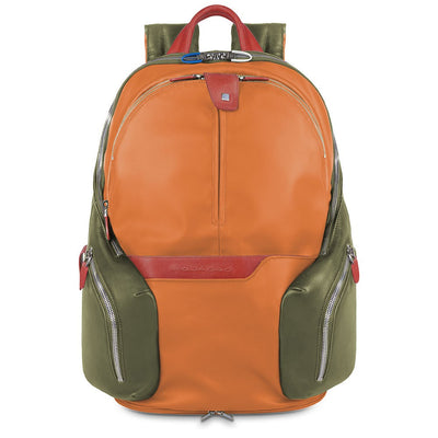 PIQUADRO COLEOS  LAPTOP BACKPACK IN ORANGE