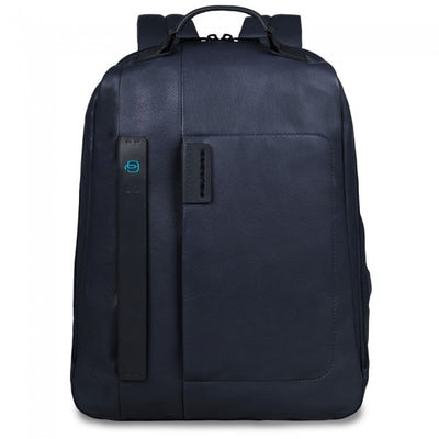 PIQUADRO PULSE CA3349P15 LARGE LAPTOP BACKPACK IN BLUE