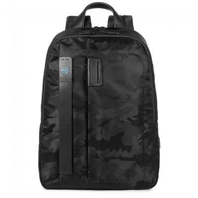 PIQUADRO PULSE CA3869P16 LARGE LAPTOP BACKPACK IN CAMO BLACK