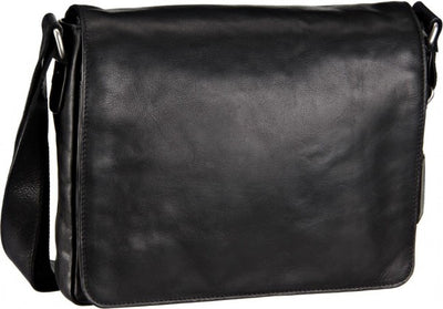 LEONHARD HEYDEN CAMBRIDGE 5254 MESSENGER / SHOULDER BAG IN BLACK