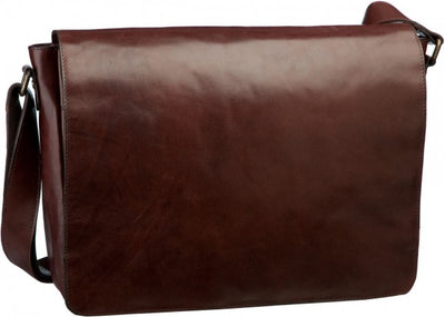 LEONHARD HEYDEN CAMBRIDGE 5255 LARGE MESSENGER / SHOULDER BAG IN RED BROWN