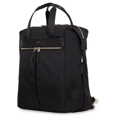 "KNOMO CHILTERN BLACK 15"" TOTE BACKPACK"