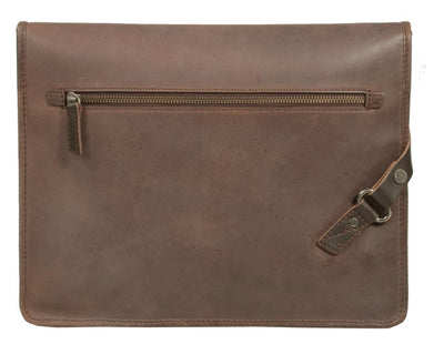 UBERBAG INSIGNIA MEN'S BROWN LEATHER CLUTCH