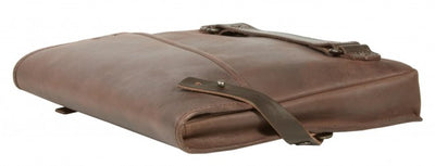 FREE UBERBAG CLUTCH WORTH £119 WITH UBERBAG INSIGNIA BROWN LEATHER LAPTOP BAG