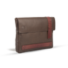 UBERBAG BROWN LEATHER MILITARY MEN CLUTCH