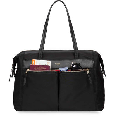 "KNOMO CURZON BLACK SHOULDER BAG FOR 15"" LAPTOP"