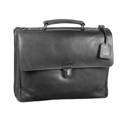 LEONHARD HEYDEN ROMA 5390 BLACK LEATHER BRIEFCASE