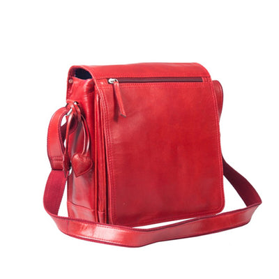 PAGANI REAL LEATHER DEEP RED LAPTOP MESSENGER, ORGANISER BAG