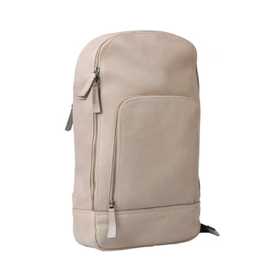 HIDEONLINE BONE / BEIGE REAL LEATHER BACKPACK / SLING BAG