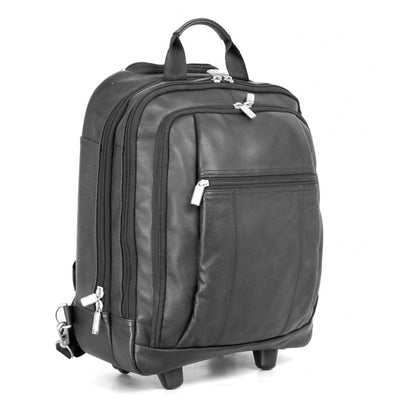 HIDEONLINE LEATHER TROLLEY BAG / WHEELED BACK PACK