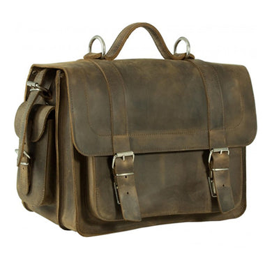 PIMLICO CRAZY HORSE STONE BROWN LEATHER SATCHEL / BACKPACK