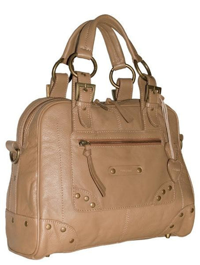 PAGANI DAWN REAL LEATHER CAPPUCCINO LARGE HANDBAG / WORKBAG
