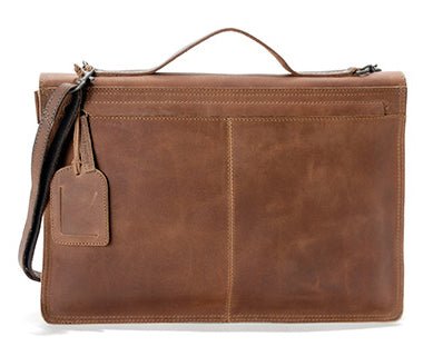 AUNTS & UNCLES EXPERT HAZELNUT / TAN LEATHER LARGE PORTFOLIO