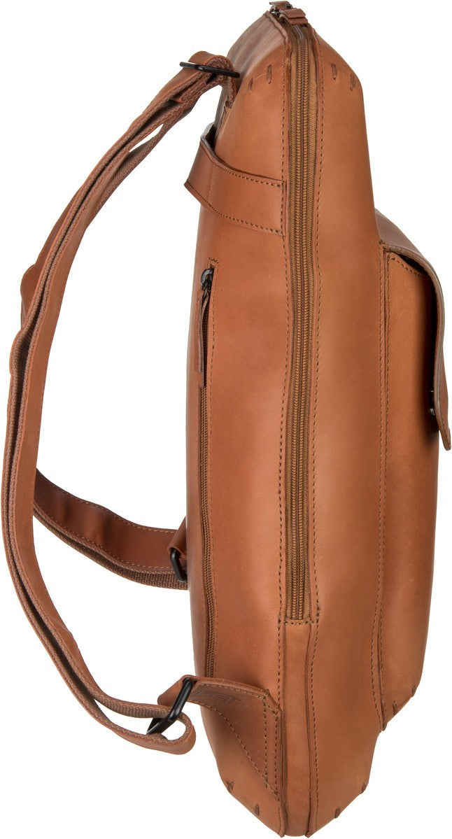 JOST FUTURA 8623 COGNAC LEATHER BACKPACK