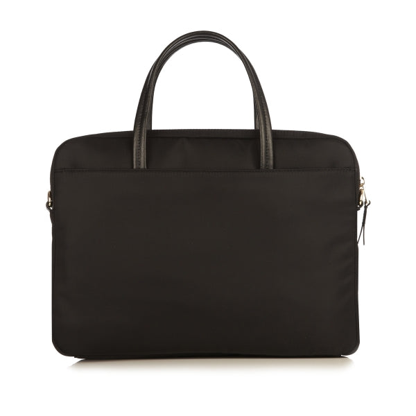 KNOMO HANOVER BLACK SLIM BRIEFCASE 14""
