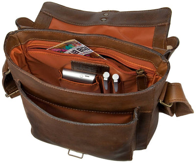 JOST RANDERS 2440 COGNAC LEATHER SMALL MESSENGER BAG / CITY BAG