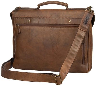 JOST RANDERS 2443 COGNAC LEATHER LAPTOP BRIEFCASE